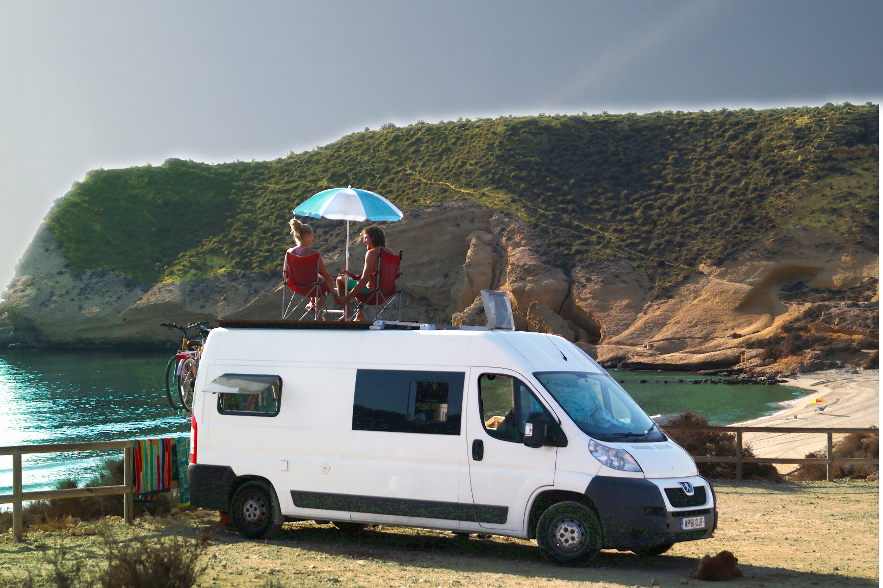 Campervan beach life